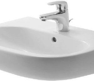 Duravit D-Code Håndvask 55x43x15cm Hvid porcelæn m/ Hanehul og Overløb Hvid 626652000