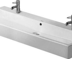 Duravit Vero vask 120cm, med 2 hanehuller Hvid 635455200