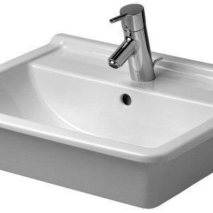 Duravit Starck 3 Håndvask t/Nedfældning 56x46,5 cm m/Hanehul u/WonderGliss Hvid 635882000