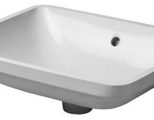 Duravit Starck 3 Håndvask t/Underlimning 53x40 cm u/Hanehul m/WonderGliss Hvid 635884610