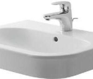 Duravit D-Code Håndvask 54,5 x 43,5 x 18cm Hvid porcelæn m/ overløb og hanehul Hvid 635919000
