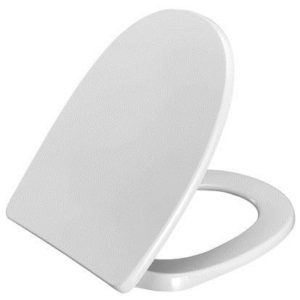 Pressalit Toiletsæde 750 m/låg hvid Fast beslag, rustfri Hvid 615052000