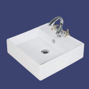 Avanti porcelænvask 4032 46.5x46.5x14 cm Hvid M/hanehul og overløb 634261000