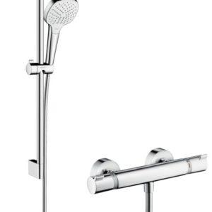 Hansgrohe Croma Select E Vario / Ecostat Comfort sæt 65 cm Hvid/Krom 27081400