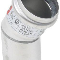 Køb Blucher Metal bøjning 30° 50 mm rustfri | 160207050