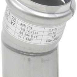 Køb Blucher Metal bøjning 15° 50 mm rustfri | 160209050