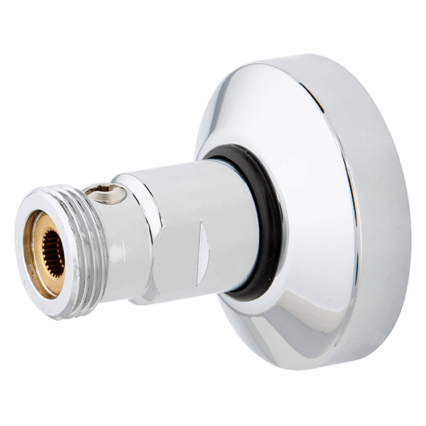 Køb Wallfix vægkoblingssæt med afspærringsventil og kærv   744454366