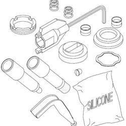 Køb Damixa reparationssæt sliddele til håndvask- og bidetbatteri | 745120904