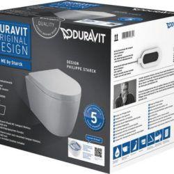 Køb Duravit ME by Starck Compact vægskål box incl toiletsæde | 613212100
