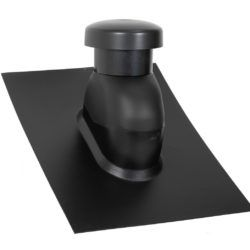 Køb Sabetoflex ventilationshætte 0-45° Ø125 sort ABS   288114512