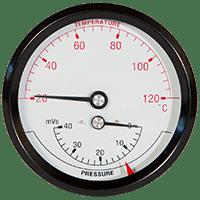 Køb Hydrotermometer 1/2XØ80 0-40MVS/20-120°C | 481073044