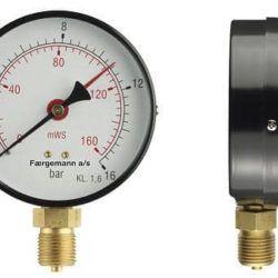 Køb Manometer 1/2XØ80 0-1 bar/0-10 MVS