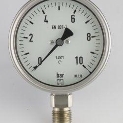 "Køb Kemi manometer 12"" x Ø100 0-10 bar nedadrettet studs med glycerin | 481204484"