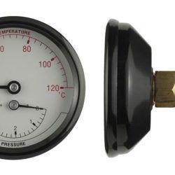 Køb Termo/manometer 1/2XØ80 0-4 bar/20-120 °C