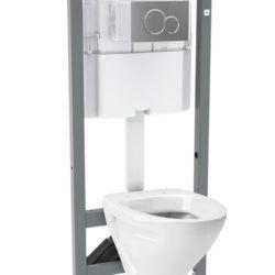 Køb Ifo Cera wc-pakke med skål og indbygningscisterne