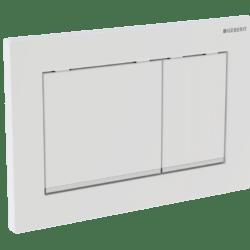 Køb Geberit betjeningsplade Omega30 hvid/krom/hvid   617092330