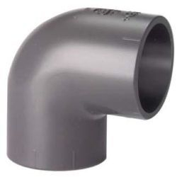 Køb Vinkel pvc 90° muffe/muffe 20 mm PN16 | 061090020