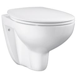 Køb GROHE Bau Ceramic toilet væghængt inklusiv sæde med soft close og quick release | 613341200