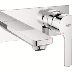 Køb GROHE Lineare New 2-hulshåndvaskarmatur til indbygning udvendig dele M-Size krom | 702501104