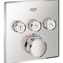 Køb Grohtherm SmartControl termostat udvendig del firkant 3SC