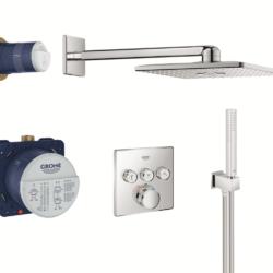 Køb Grohtherm SmartControl bundle termostat firkant 3SC