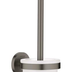 Køb GROHE Essentials toiletbørste sæt børstet grafit | 778452159