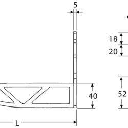 Køb Hudevad (RIOpanel) Vægbæring 205/150 mm til LK | 325097400