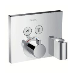 Køb hansgrohe ShowerSelect termostat med 2 udtag og integreret bruserholder og slangeudtag