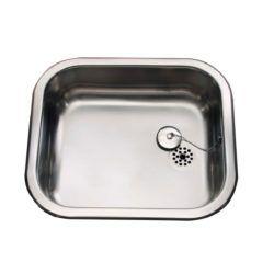 Køb Intra Juvel køkkenvask K400 400 x 340 mm rustfri stål med prop | 681194100