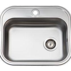 Køb Intra Juvel køkkenvask BMK480B1 480 x 340 mm mat med strainer | 681216149