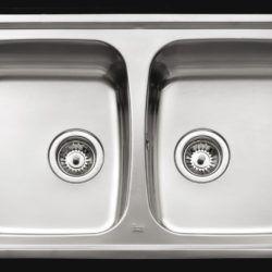 Køb Intra Juvel køkkenvask dobbelt UNI200-WT 790 x 500 mm | 681456100