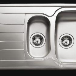 Køb Intra Juvel køkkenvask dobbelt UNI150D-WT 1000 x 500 mm | 682047100