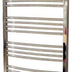 Køb Kriss Round håndklæderadiator 1320 x 600 mm forkromet