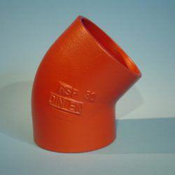 Køb SML Støbejernsbøjning 70 mm 45° | 150705370