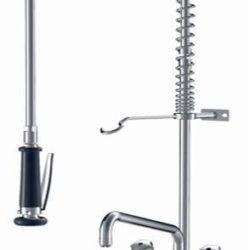 Køb Storkøkken armatur KWC Gastro to-huls/to-greb 300 mm tud til bordmontage