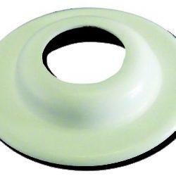 Køb Bøsningskrave plast hvid 12 mm | 015211012