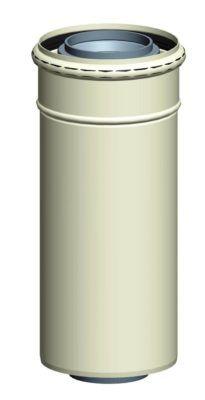 Køb Aftræksrør koncentrisk pp/alu dn 60/100 450 mm | 340764004