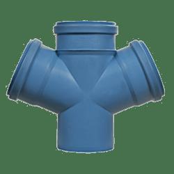 Køb Dblue Ø110 mm X 110 mm X 87° Dobbelt Grenrør | 183330110