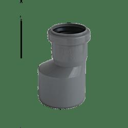 Køb Ht-Pp (Amax Pro) Ø110 mm X 50 mm grå excentrisk reduktionsrør   186511106