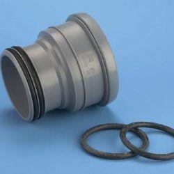 Køb 110 mm PP/HT Erstatningsmuffe grå | 186581110