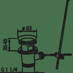 Køb Oras bundventil komplet med løft op forkromet | 747301310