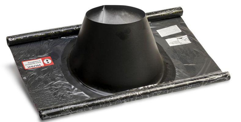 Køb Metalbestos inddækning Ø230/130 33-45° flex sort | 317636236