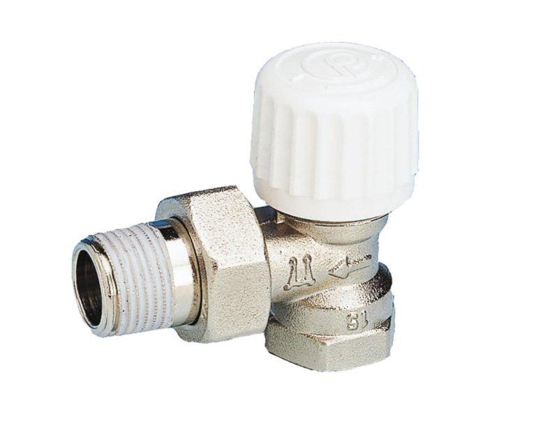 Køb Pettinaroli radiator ventil vinkelløbende 1/2