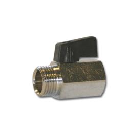 "Køb Minikuglehane med sort nylon greb 3/4""x18 mm"