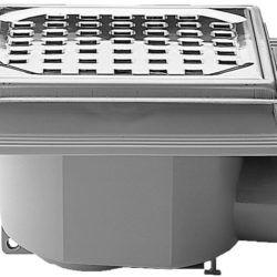 Køb Afløbsskål Purus MaxiFlex 75 mm med rustfri rist og drejelig indstøbningsflange | 153461113