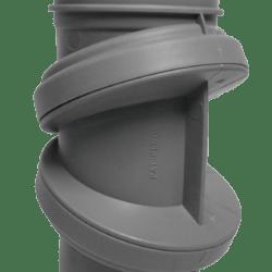 Køb Bøjning drejelig grå 40 mm muffe | 186193040