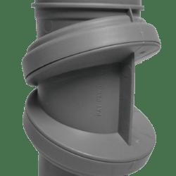 Køb Bøjning drejelig grå 50 mm muffe | 186193050
