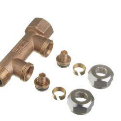 Køb Roth fordelerrør 2 afgreninger x 15 mm pex Euro-red | 046217415