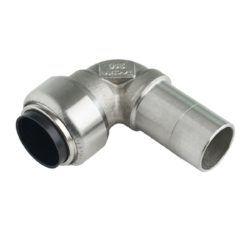 Køb Roth vinkel 90° 15 mm muffe/nippel rustfri stål