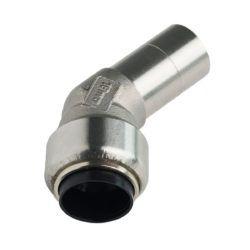 Køb Roth vinkel 45° 18 mm muffe/nippel rustfri stål